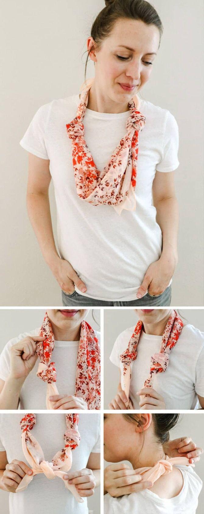 Как красиво завязать шарф: 19 лучших способов 4