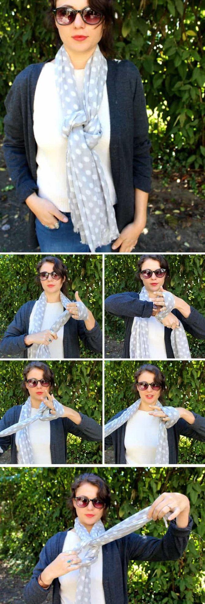 Как красиво завязать шарф: 19 лучших способов 8