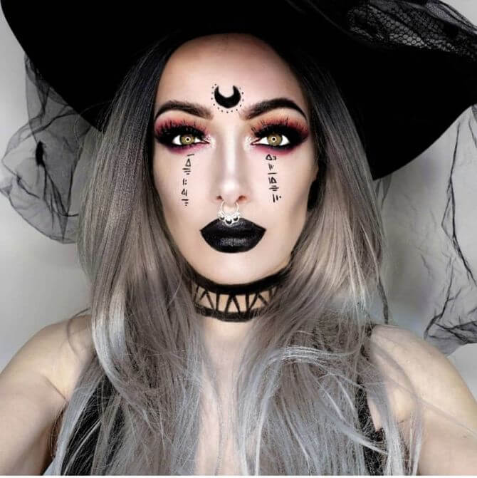 61 жуткая, но красива идея макияжа на Хэллоуин 2020 10