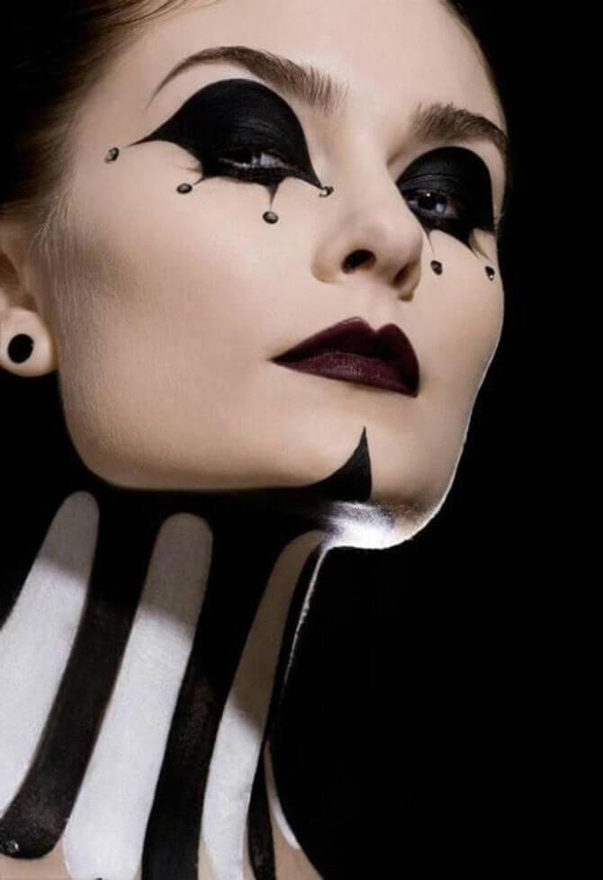 61 жуткая, но красива идея макияжа на Хэллоуин 2020 11