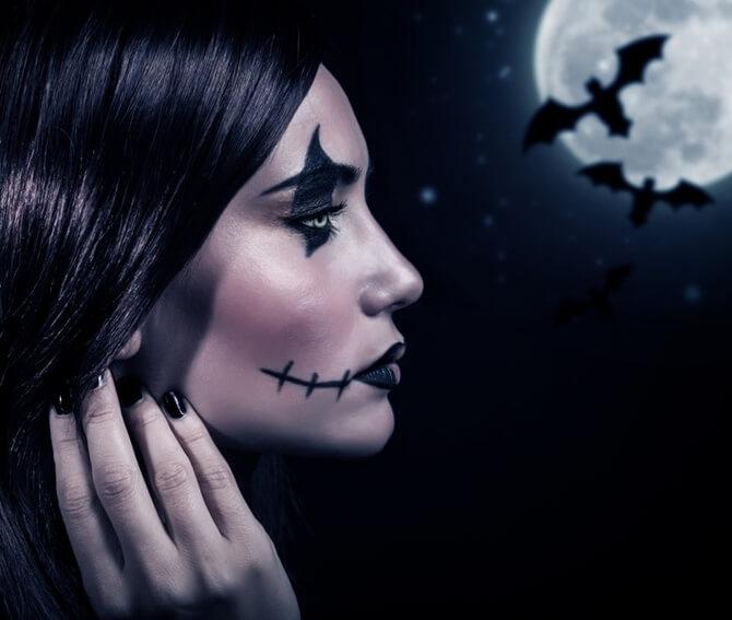 61 жуткая, но красива идея макияжа на Хэллоуин 2020 12
