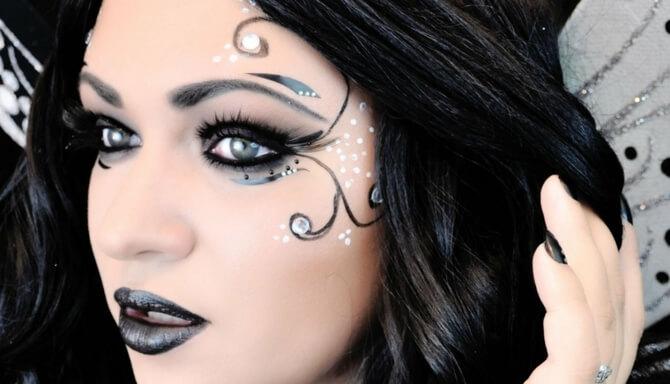 61 жуткая, но красива идея макияжа на Хэллоуин 2020 16