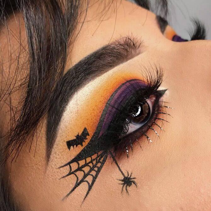 61 жуткая, но красива идея макияжа на Хэллоуин 2020 1