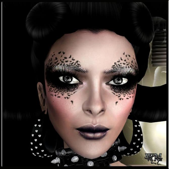 61 жуткая, но красива идея макияжа на Хэллоуин 2020 19
