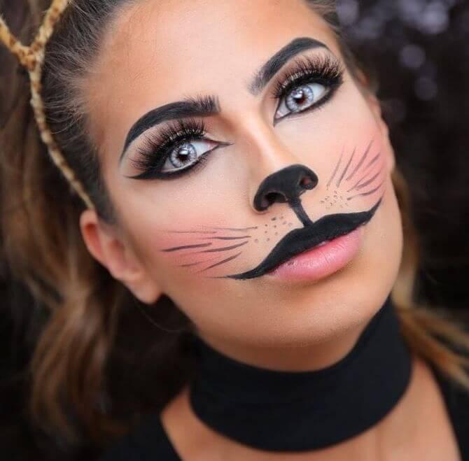 61 жуткая, но красива идея макияжа на Хэллоуин 2020 20