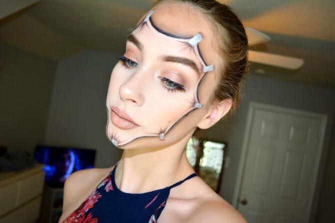 61 жуткая, но красива идея макияжа на Хэллоуин 2020 22