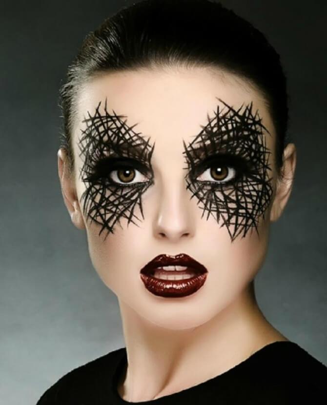 61 жуткая, но красива идея макияжа на Хэллоуин 2020 23