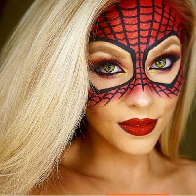 61 жуткая, но красива идея макияжа на Хэллоуин 2020 24