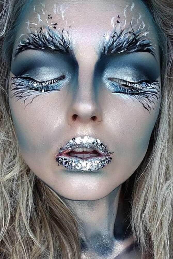 61 жуткая, но красива идея макияжа на Хэллоуин 2020 26