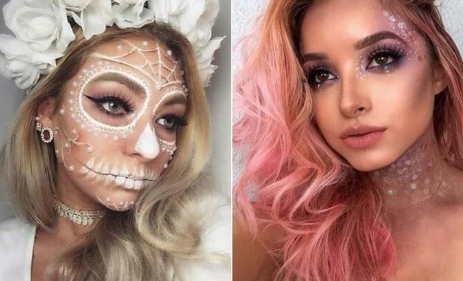 61 жуткая, но красива идея макияжа на Хэллоуин 2020 27
