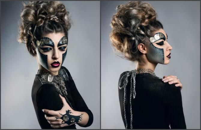 61 жуткая, но красива идея макияжа на Хэллоуин 2020 28