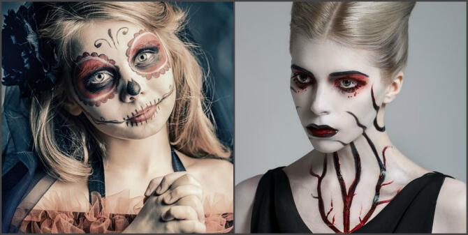 61 жуткая, но красива идея макияжа на Хэллоуин 2020 29