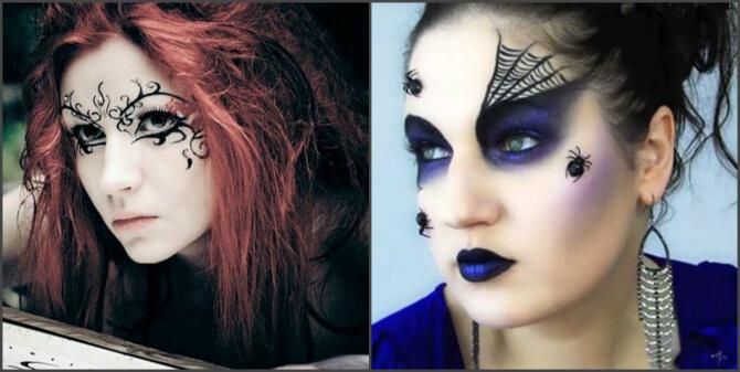 61 жуткая, но красива идея макияжа на Хэллоуин 2020 30
