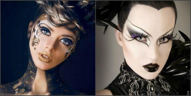 61 жуткая, но красива идея макияжа на Хэллоуин 2020 31