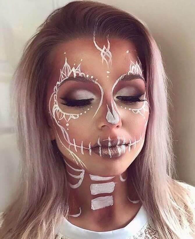 61 жуткая, но красива идея макияжа на Хэллоуин 2020 35
