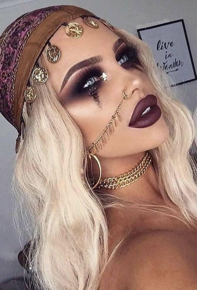 61 жуткая, но красива идея макияжа на Хэллоуин 2020 38