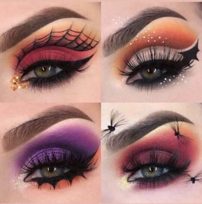 61 жуткая, но красива идея макияжа на Хэллоуин 2020 3