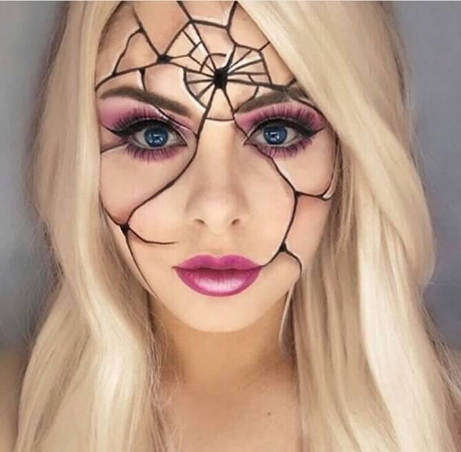 61 жуткая, но красива идея макияжа на Хэллоуин 2020 43