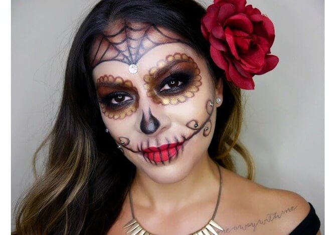 61 жуткая, но красива идея макияжа на Хэллоуин 2020 54