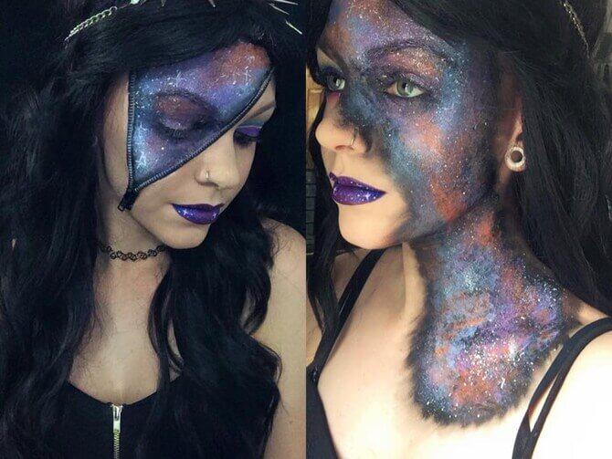 61 жуткая, но красива идея макияжа на Хэллоуин 2020 55