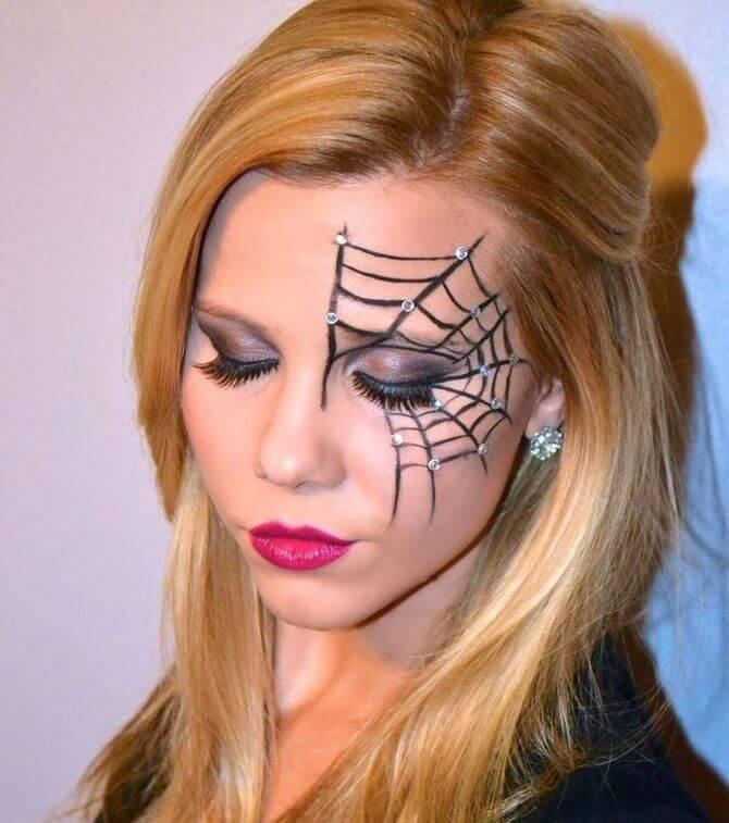 61 жуткая, но красива идея макияжа на Хэллоуин 2020 6
