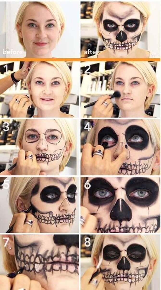 Легкий макияж на Хэллоуин: самые крутые идеи для взрослых и детей 21