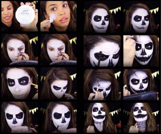 Легкий макияж на Хэллоуин: самые крутые идеи для взрослых и детей 22