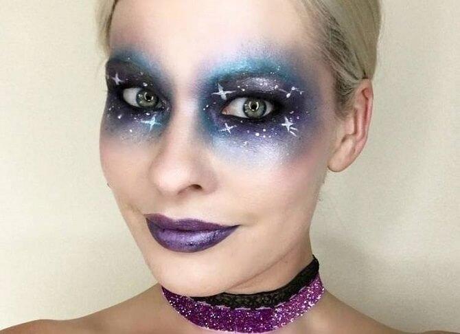 Легкий макияж на Хэллоуин: самые крутые идеи для взрослых и детей 25