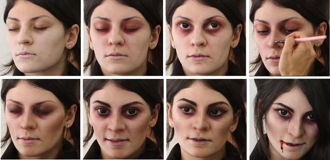 Легкий макияж на Хэллоуин: самые крутые идеи для взрослых и детей 34