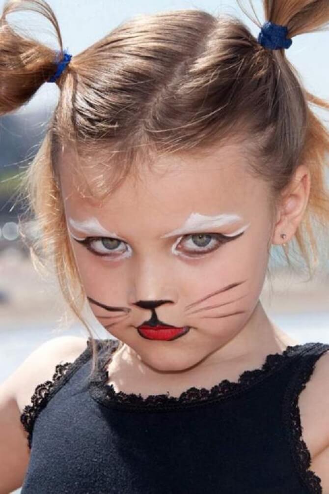 Легкий макияж на Хэллоуин: самые крутые идеи для взрослых и детей 43