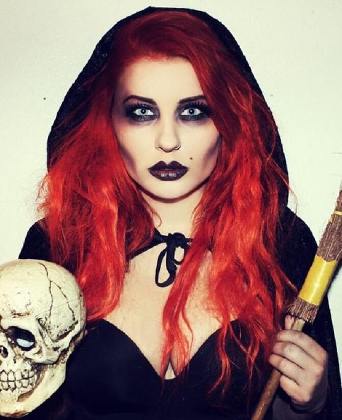 Макияж ведьмы на Хэллоуин: топ-40+ крутых идей для девушек и детей, фото 2