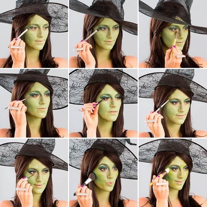 Макияж ведьмы на Хэллоуин: топ-40+ крутых идей для девушек и детей, фото 14