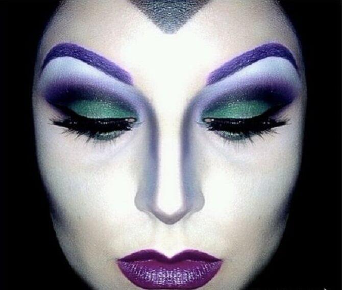 Макияж ведьмы на Хэллоуин: топ-40+ крутых идей для девушек и детей, фото 19