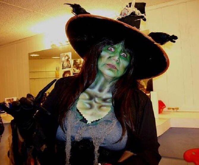 Макияж ведьмы на Хэллоуин: топ-40+ крутых идей для девушек и детей, фото 20