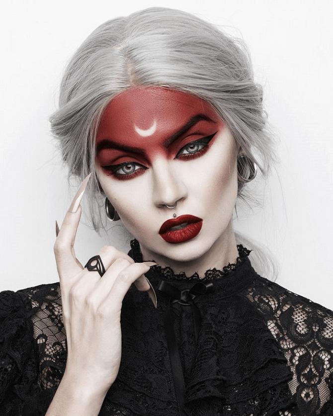 Макияж ведьмы на Хэллоуин: топ-40+ крутых идей для девушек и детей, фото 29