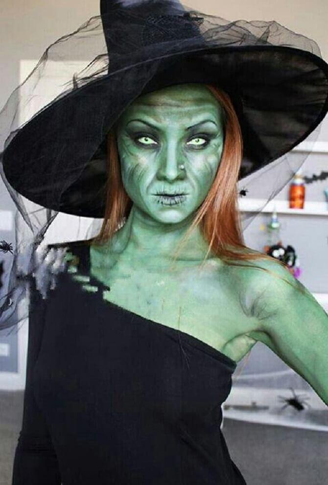 Макияж ведьмы на Хэллоуин: топ-40+ крутых идей для девушек и детей, фото 33