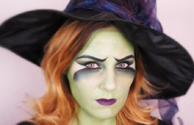 Макияж ведьмы на Хэллоуин: топ-40+ крутых идей для девушек и детей, фото 34