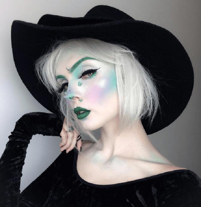 Макияж ведьмы на Хэллоуин: топ-40+ крутых идей для девушек и детей, фото 35