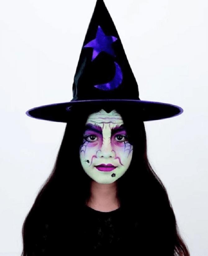 Макияж ведьмы на Хэллоуин: топ-40+ крутых идей для девушек и детей, фото 43