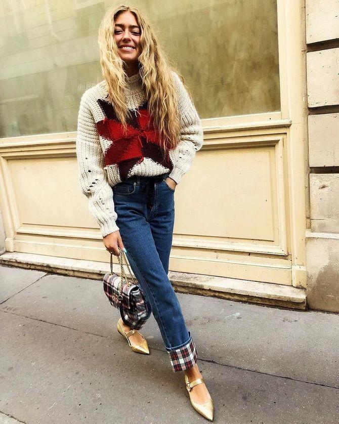 Кращі осінні образи зі светрами 12