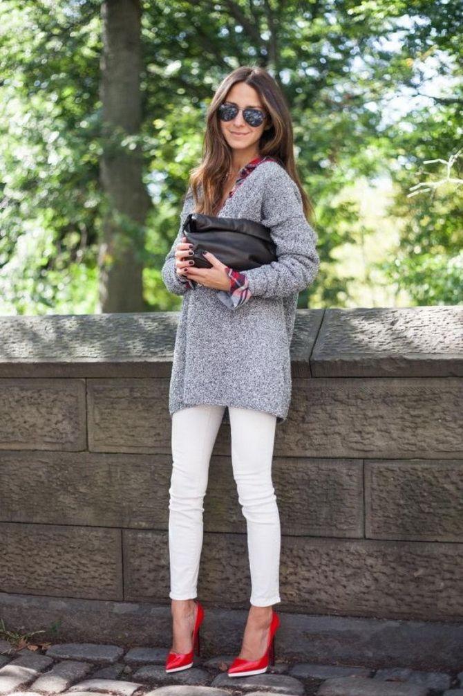 Кращі осінні образи зі светрами 3