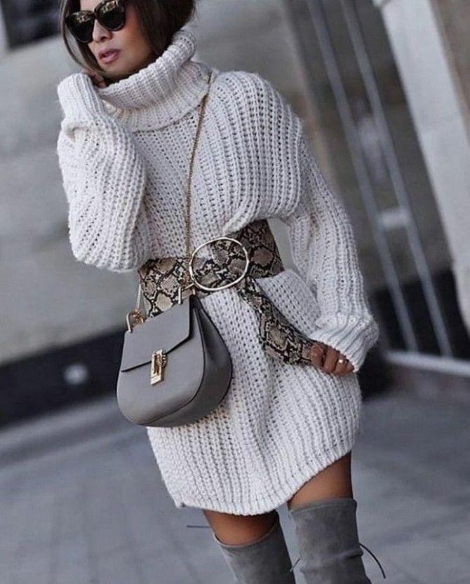 Кращі осінні образи зі светрами 30