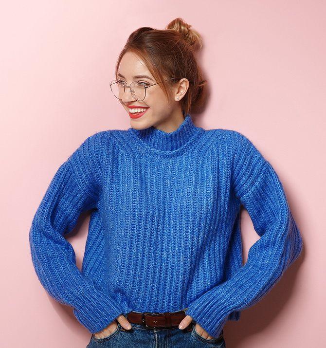 Кращі осінні образи зі светрами 5