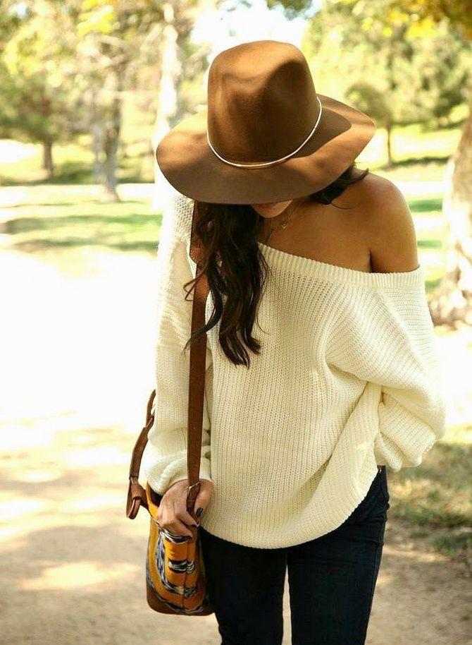 Кращі осінні образи зі светрами 7