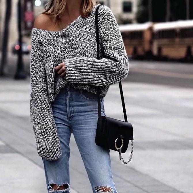 Кращі осінні образи зі светрами 9