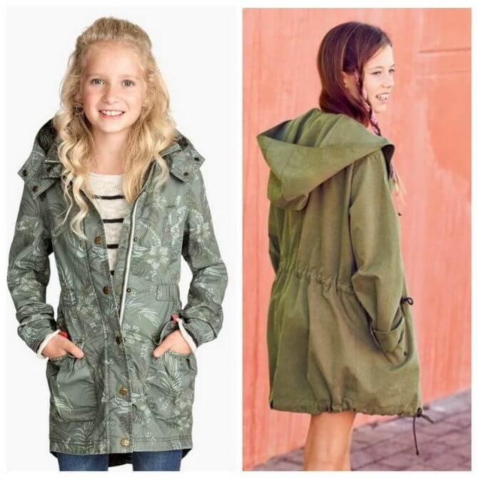 Модные осенние куртки для девочек 2020-2021 2