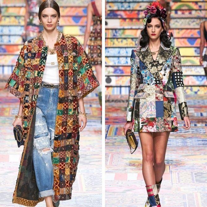 Одежда в стиле пэчворк — модная тенденция 2021 1