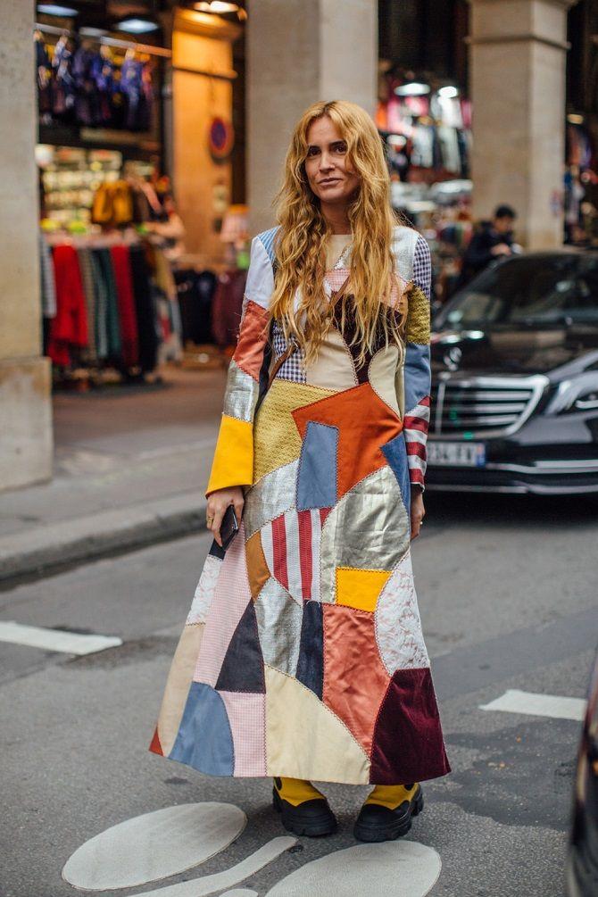 Одежда в стиле пэчворк — модная тенденция 2021 14