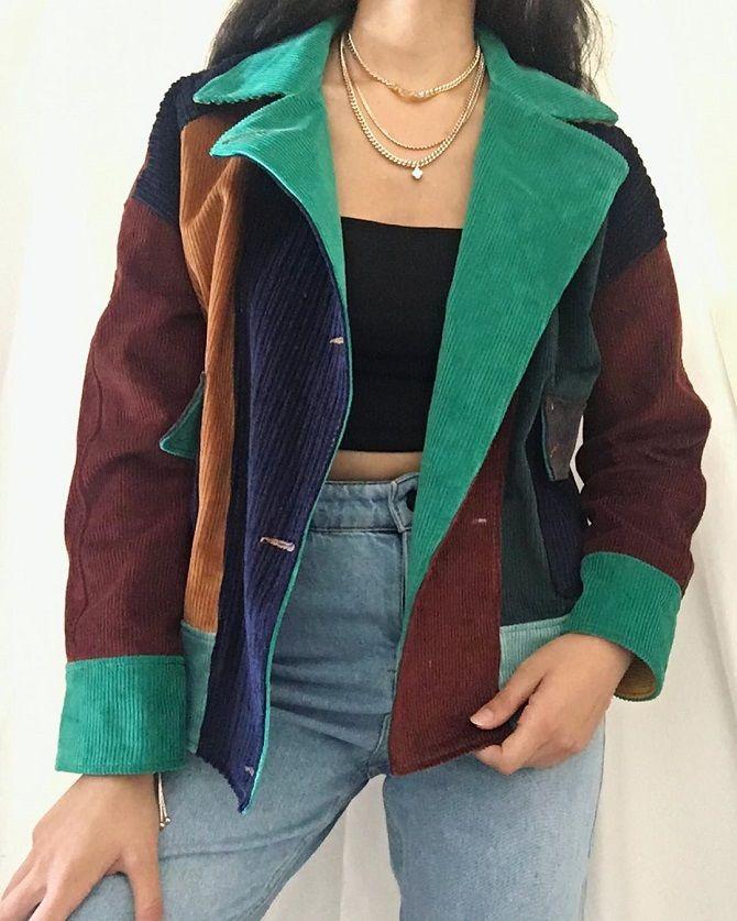 Одежда в стиле пэчворк — модная тенденция 2021 28