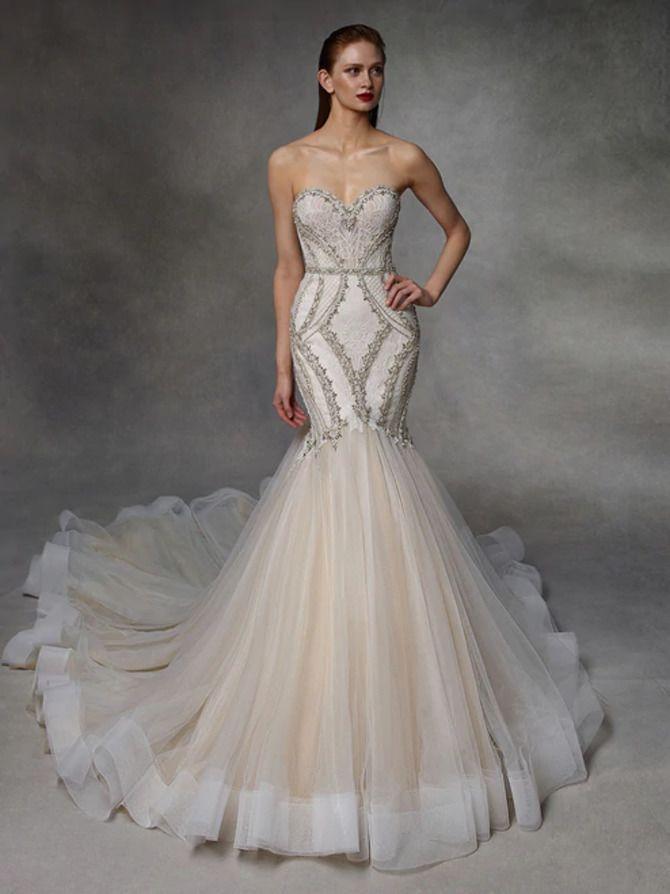 Как принцесса: пышные свадебные платья 2020-2021 12